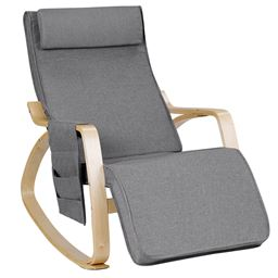 Realx Adjustable Lounge Rocking Chair with Pillow & Pocket