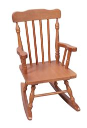 Gift Mark Childs Spindle Rocking Chair -Honey