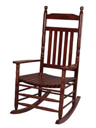 Gift Mark Deluxe Adult Extra Tall Back Rocking Chair - Cherry