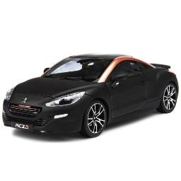 Norev 184785 2012 Peugeot RCZ R Black Gold 1-18 Diecast Car Model