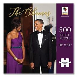 """African American Expressions - The Obamas Puzzle (500 Pieces, 18"""" x 24"""") PUZ-16"""
