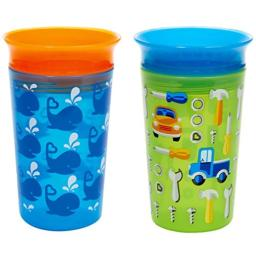 Munchkin Miracle 360 Sippy Cup, Blue/Green, 2 Count