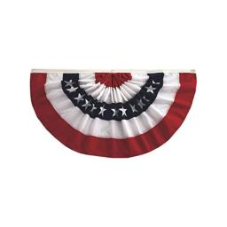 In the Breeze Pleated Fan Patriotic Bunting, 1.5' x 3'