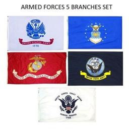 Wholesale Lot 5 Branches Military Set 2x3 2'x3' Polyester Flags
