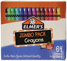 Elmer's 06180 64 Pack of Crayons Novelty