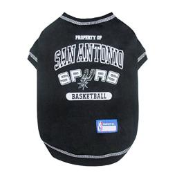 Pets First NBA Licensed Hoodies & T-Shirt for Dogs & Cats, SAN Antonio Spurs, Large