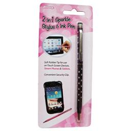 Allary 2281701 2-in-1 Sparkle Stylus and Ink Pen - (Random ColorStyle)