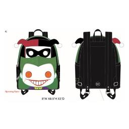 Loungefly DC Joker and Harley Quinn Mini Backpack