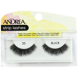 Andrea Strip Lashes, Black [33] 1 pair (Pack of 4)