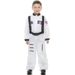 Charades Astronaut Suit Children's Costume, White, Small