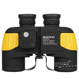 Hooway 7x50 Waterproof Fogproof Marine Binoculars wInternal Rangefinder  Compass for Navigation,Boating,Fishing,Water Sports,Hunting and More