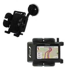 Gomadic Brand Flexible Car Auto Windshield Holder Mount Designed for The Nextar 43LT - Gooseneck Suction Cup Style Cradle