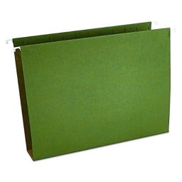 Universal 14142 Two Inch Box Bottom Pressboard Hanging Folder, Letter, Standard Green, Box of 25