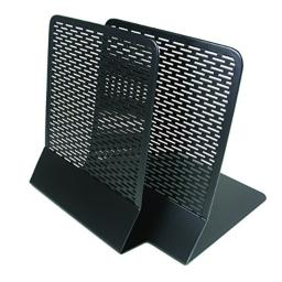 Artistic Urban Collection Punched Metal Bookends, 2 Pack, Black (ART20008)