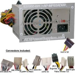 400W Power Supply Replacement for Delta DPS-365BB A, HP Compaq 437800-001, 437358-001, PS-6361-02, PC6015, PC6015, DC7800, DC7800 CMT, DC7800M, Liteon