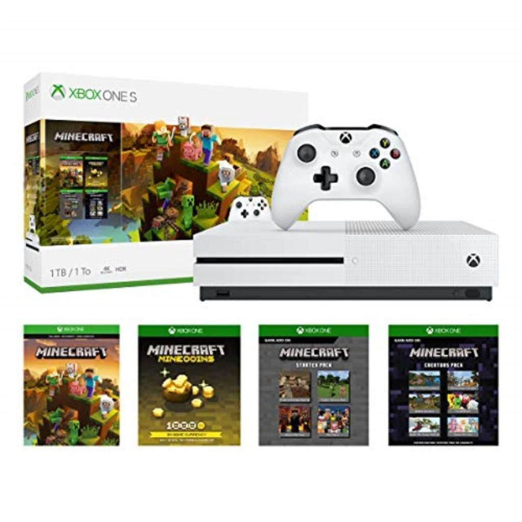 Microsoft Xbox One S 1TB Minecraft Creators Bundle - White