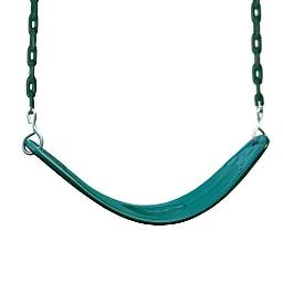 Gorilla Playsets 04-0002-G/G Extreme-Duty Swing Belt - Green with Green Chains