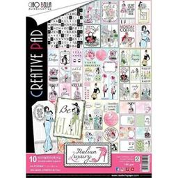 Ciao Bella CBC009 Double-Sided Paper Pack 90lb A4 Pkg-Italian Luxury, 10 Designs/1