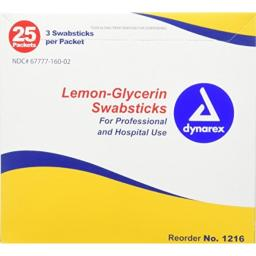 Dynarex Lemon Glycerin Swabs, 75 Count