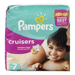 Pampers 28Ct Cruisers Diaper Mega Pack - Size 7