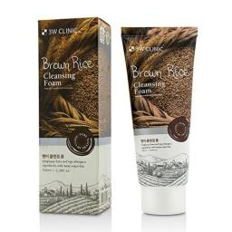 3W Clinic Cleansing Foam, Brown Rice, 100 ml/3.38 Ounce
