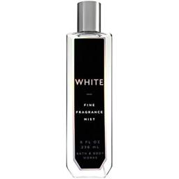 Bath and Body Works White Fine Fragrance Mist 8 Ounce Full Size Tall Slender Bottle With Black Label