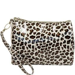 Primeware Shirley Temple Large Touch Up Insulated Cosmetics Bags, Cheetah