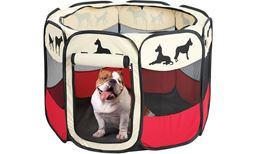 "Indoor Outdoor Dog Pen – Pet Pens Small Dogs – 36"" x 23"" Pet Pen Dogs – Pet Exercise Pen – Pet Playpen (Large)"