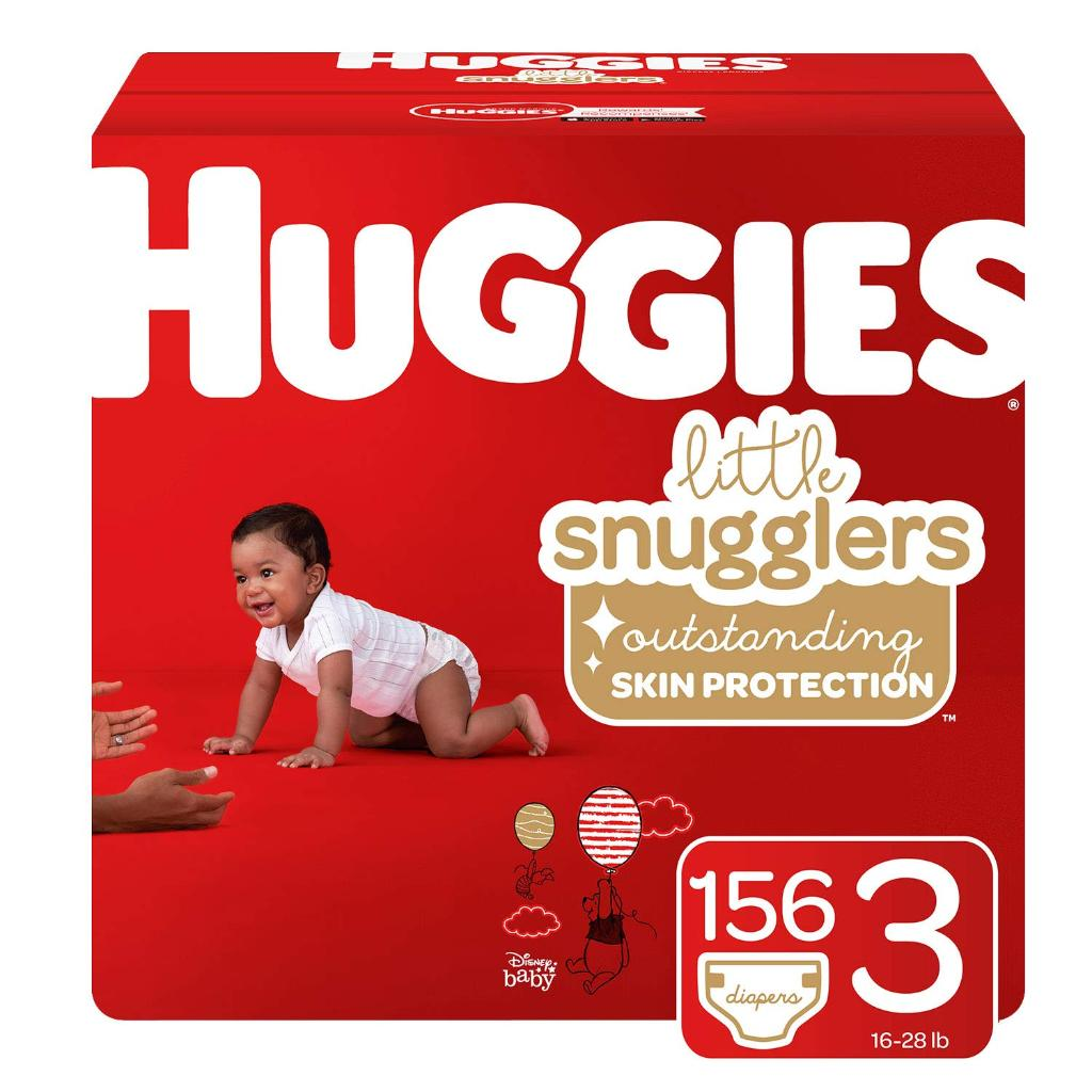 Huggies Little Snugglers Baby Diapers, Size 3, 156 Count, Economy Pack