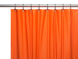 "American crafts 8 Gauge ""Hotel Collection"" Vinyl Shower Curtain Liner With Metal Grommets - Orange - 72"" X 72"""