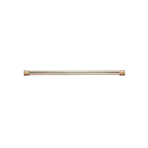 Carnation Home Fashions Shower Stall-Sized Steel Shower Curtain Tension Rod in Brass