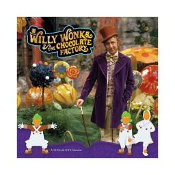 Willy Wonka 16 Month 2019 Wall Calendar Charlie and the Chocolate Factory Gift