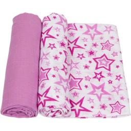 MiracleWare 4148 Radiant Orchid Muslin Swaddle, 2 Pack