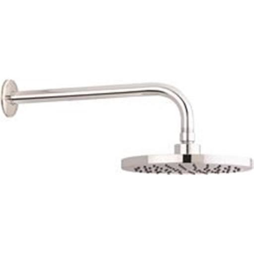 8 in. Single Function Round Raincan Showerhead with Stainless Steel Arm & Flange - Chrome Finish