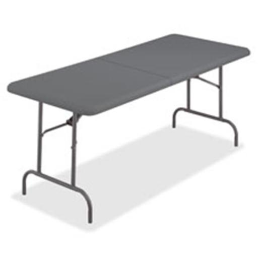 Iceberg ICE65477 IndestrucTable Too Bifold Table, Charcoal - 96 in.