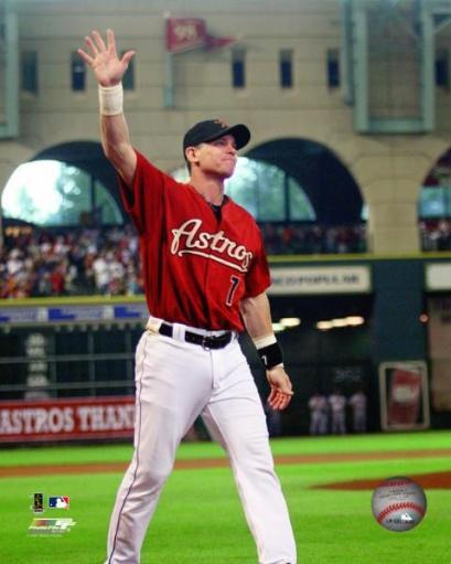 Craig Biggio waves to the fans before his last game in Houston September 30, 2007. Photo Print