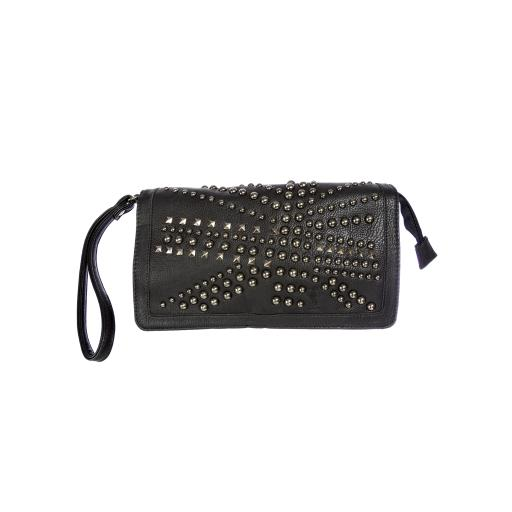 Religion Women's Faux Leather Heritage Soft Clutch Bag One Size Black