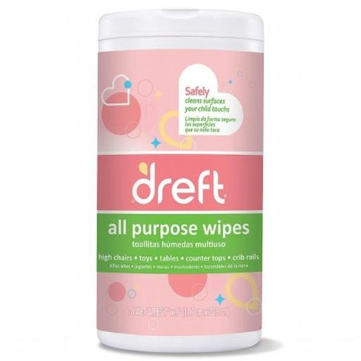 Nehemiah 1087 70C Dreft Multi Surface Wipes 70 Count - Pack Of 4 341CC84F55FB6F05