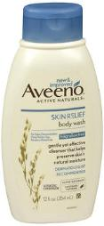 Aveeno Active Naturals Skin Relief Body Wash Fragrance Free - 12 Oz, Pack Of 4