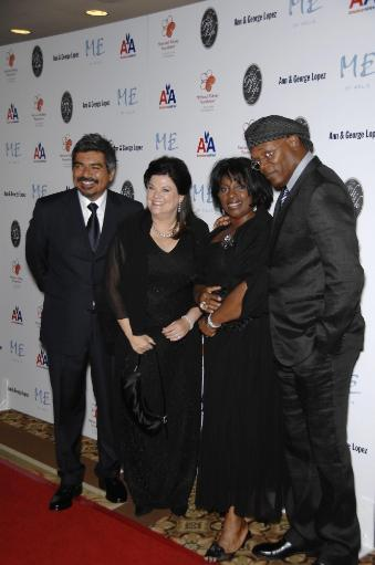 George Lopez, Anne Lopez, La Tanya Richardson, Samuel L. Jackson At Arrivals For 29Th Annual The Gift Of Life Gala, Century Plaza Hotel, Los.