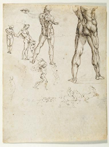 Figure Studies And Nudes For The Battle Of Anghiari Poster Print R8CWNUTTFR2S1LCF