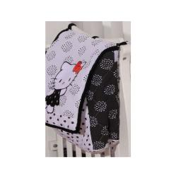 Hello Kitty Black Crib Bedding Accessory - Diaper Bag / Nappy Bag