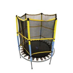 Upper Bounce UBNETMAT-55 55 in. Round Trampoline with Safety Enclosure- Net & Mat, Black & yellow