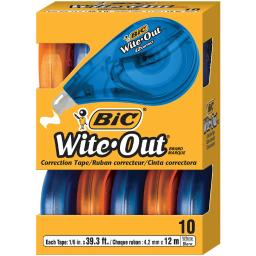 Bic usa inc bic wite out ez correct correction wotap10