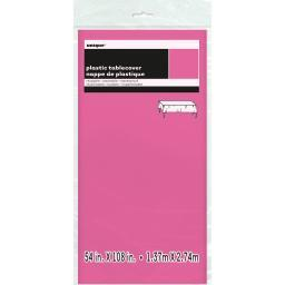 "Plastic Tablecover 54""X108""-Hot Pink CPLCVRS-5082"