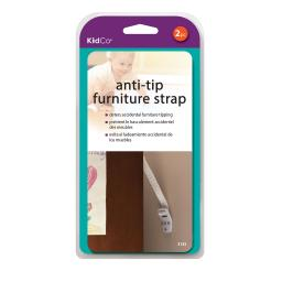 Kidco s142 white kidco anti-tip furniture straps 2 pack white