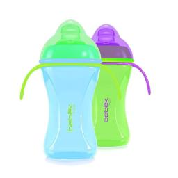 Bebek 115026 Soft Spout with Handles Cup Combo, Blue & Green - Set of 2