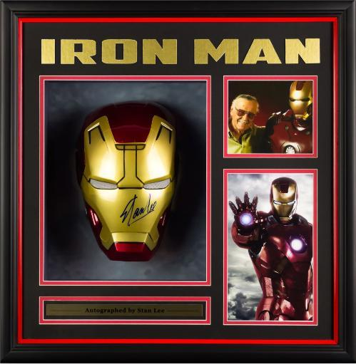 Iron Man Mask Signed by Stan Lee - Custom Framed - PSA/DNA VMQH6A7MV4XEV7RW