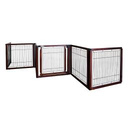 Richell 94960 cherry brown richell convertible elite freestanding pet gate 6-panel cherry brown 135.8 x 29.1 x 31.5