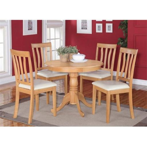 East West Furniture ANTI3-OAK-C 3 Piece Kitchen Table Set-Small Kitchen Table Plus 4 Dining Chairs